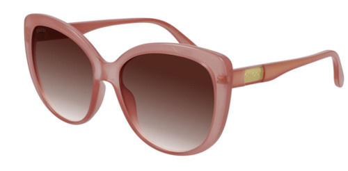 Authentic Gucci GG 0789S 003 Pink/Red Gradient Cat-Eye Women's Sunglasses