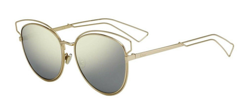 Authentic Christian Dior SIDERAL 2 0000/UE Rose Gold/Ivory Mirrored Sunglasses