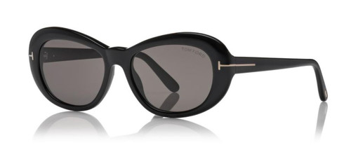 Authentic Tom Ford FT 0819 Elodie 01A Black/Gray Oval Women's Sunglasses