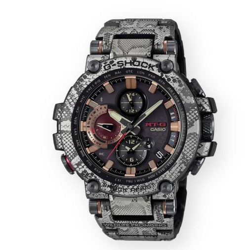 Authentic G-Shock Limited Edition African Rock Python Men's Watch MTGB1000WLP-1A