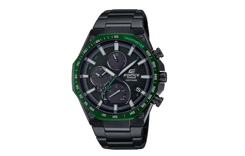 Authentic Casio Edifice Black Ion Stainless Steel Men's Watch EQB1100XDC1A