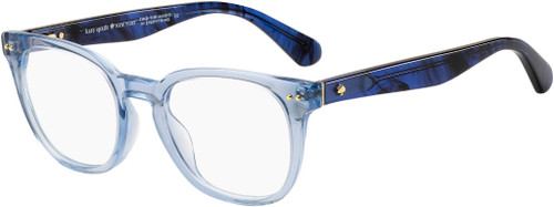 Authentic Kate Spade Brynlee 0QM4 Crystal Blue Square Women's Eyeglasses