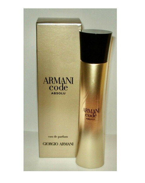 ARMANI CODE ABSOLU Perfume By GIORGIO ARMANI for Women EDP 2.5 oz New In Box