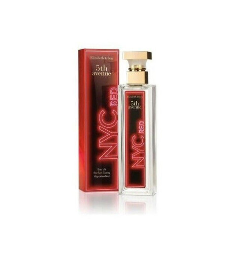 Authentic 5TH AVENUE NYC RED By ELIZABETH ARDEN 2.5 EDP SP For Women New In Box