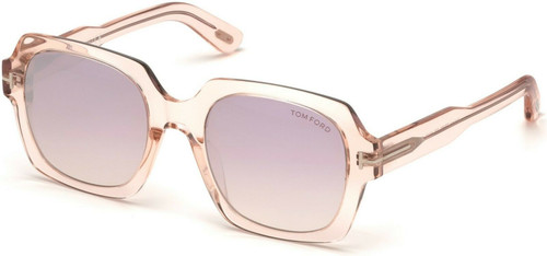 Authentic Tom Ford FT 0660 Autumn 72Z Shiny Transparent Pink Sunglasses