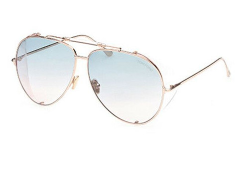 Tom Ford FT 0900 Jack-02 28P Rose Gold/Turquoise Pink Unisex Sunglasses