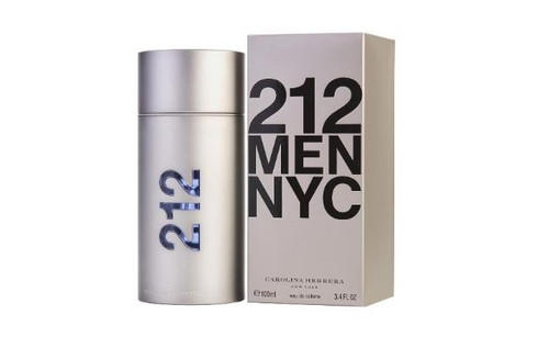 Authentic 212 Cologne by Carolina Herrera for Men EDT 3.4 oz New In Box