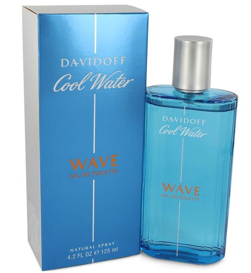 Authentic Cool Water Wave Cologne by Davidoff for Men EDT 4.2 oz New In Box