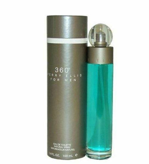 360 by PERRY ELLIS 3.4 oz / 100ml EDT Cologne PERFUME SPRAY for Men NEW in box