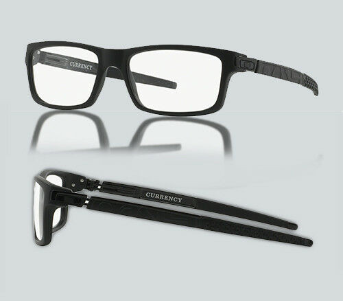 Authentic 0OX 8026 CURRENCY 802601 SATIN BLACK Eyeglasses