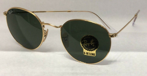 Authentic Ray Ban 0RB3447 ROUND METAL 001 ARISTA Sunglasses
