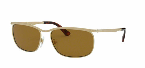 Authentic Persol 0PO2458S-1076AN Gold Polarized 2458S Sunglasses