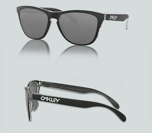 Authentic Oakley 0OO9013 FROGSKINS LITE 9013B1 ECLIPSE CLEAR Sunglasses