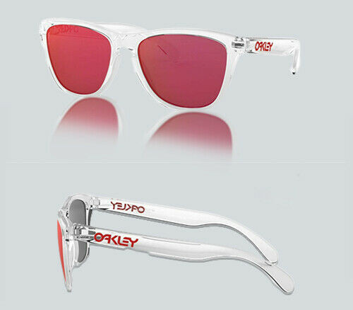 Authentic Oakley 0OO9013 FROGSKINS LITE 9013A5 POLISHED CLEAR Sunglasses