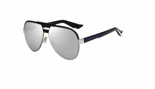 Authentic Christian Dior Homme Diorforerunner 0BSC/DC Black Silver Sunglasses
