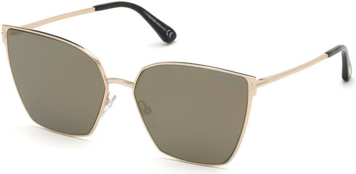 Autentico Tom Ford ft 0653 Helena 28C Rosa Oro / Havana Occhiali da Sole