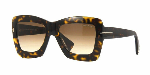 Autentico Tom Ford Hutton 0.6m 0664 52F Avana Scuro Occhiali da Sole
