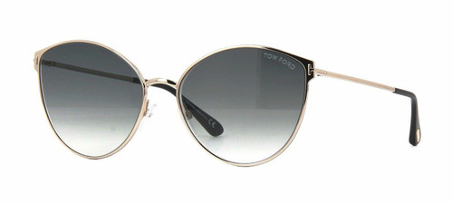 Authentic Tom Ford Zeila FT 0654 28B Shiny Rose Gold Sunglasses