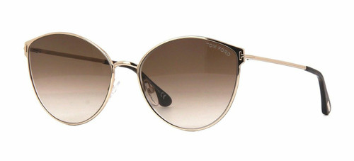 Authentic Tom Ford Zeila FT 0654 28F Rose Gold Sunglasses
