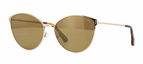 Authentic Tom Ford Zeila FT 0654 28G Rose Gold Sunglasses