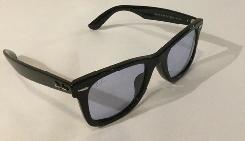 Authentic Ray Ban 0RB2140F Wayfarer 901/64 Black/Blue Grey Sunglasses