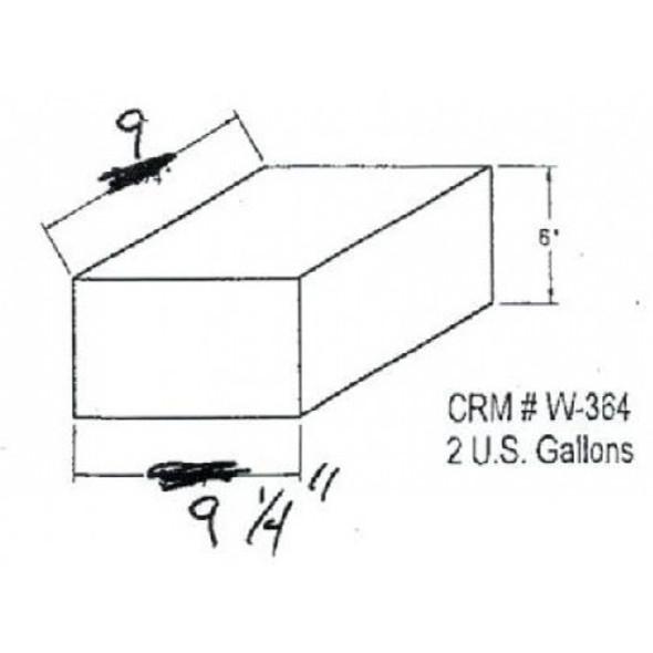 2 Gallon Rectangle Plastic Tank | W-364