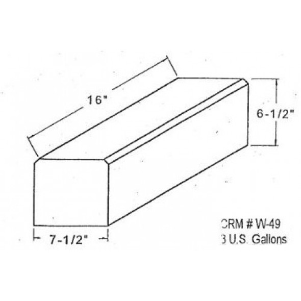3 Gallon Rectangle Plastic Tank | W-49