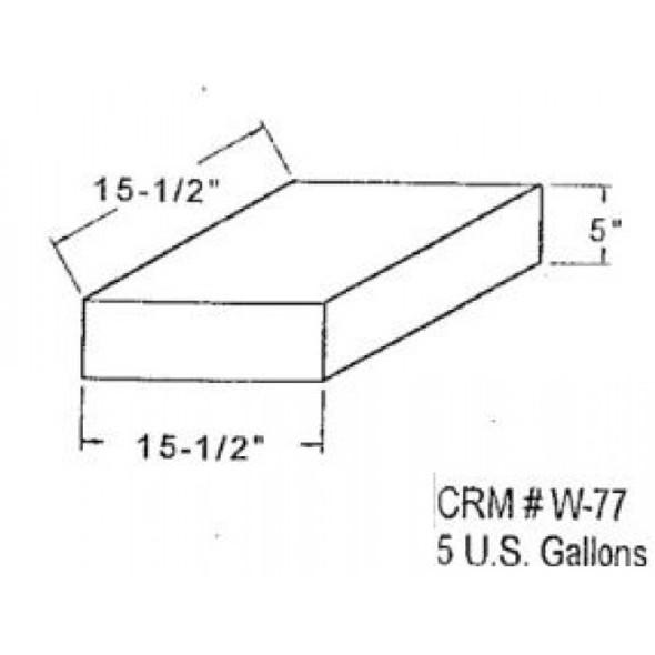 5 Gallon Rectangle Plastic Tank | W-77