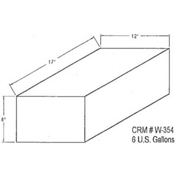 6 Gallon Rectangle Plastic Tank | W-354