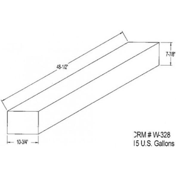 15 Gallon Rectangle Plastic Tank | W-328-OR