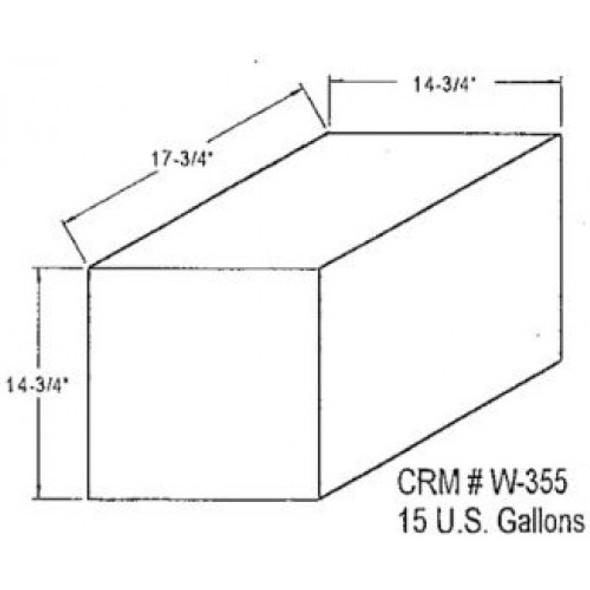 15 Gallon Rectangle Plastic Tank | W-355