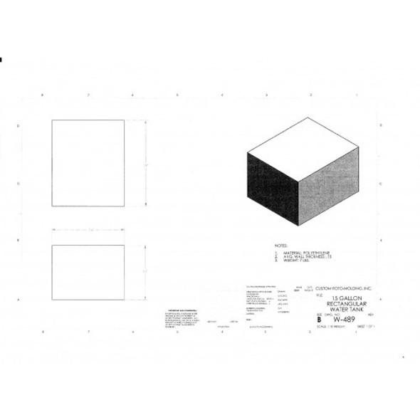 15 Gallon Rectangle Plastic Tank | W-489
