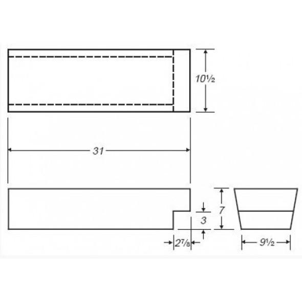 9 Gallon RV Water Tank | RVWB341