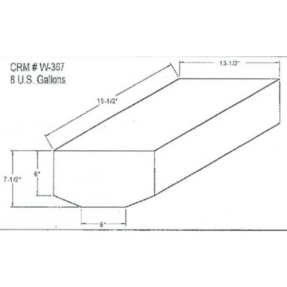 8 Gallon Bow Shaped Water Tank | W-367