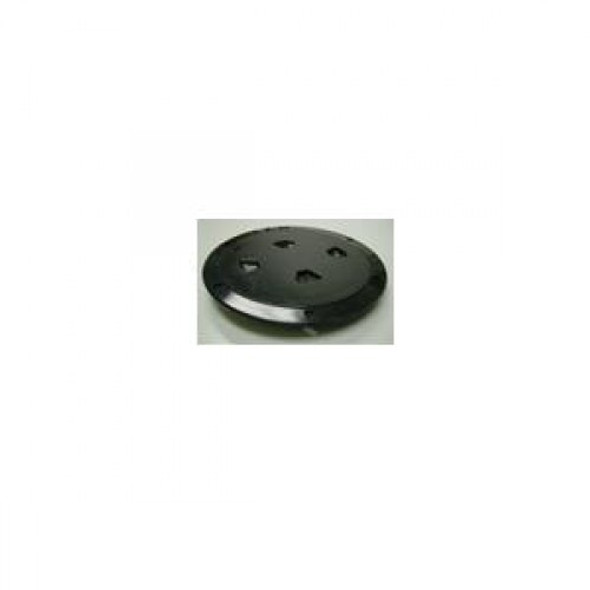 "8"" Inspection Lid - Black Collar, Black Lid 