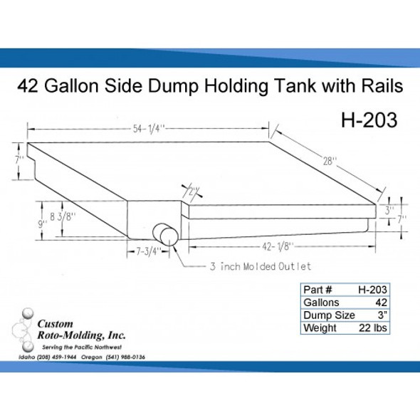 42 Gallon Side Dump RV Holding Tank | H-203