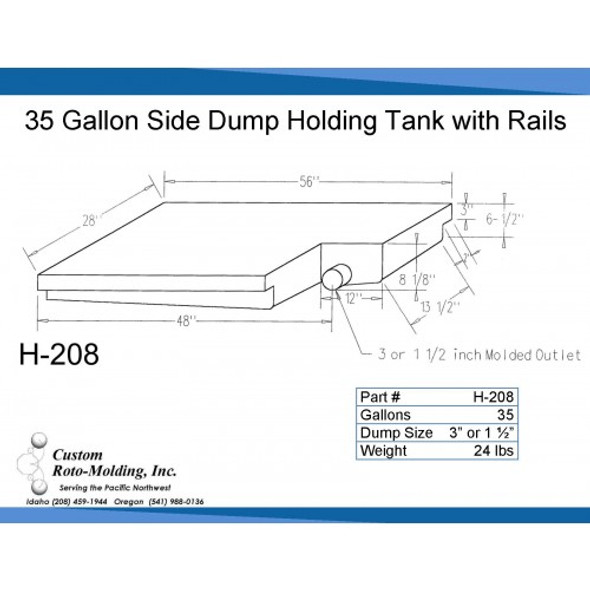 35 Gallon Side Dump RV Holding Tank | H-208