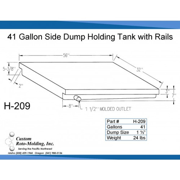 42 Gallon Side Dump RV Holding Tank | H-209