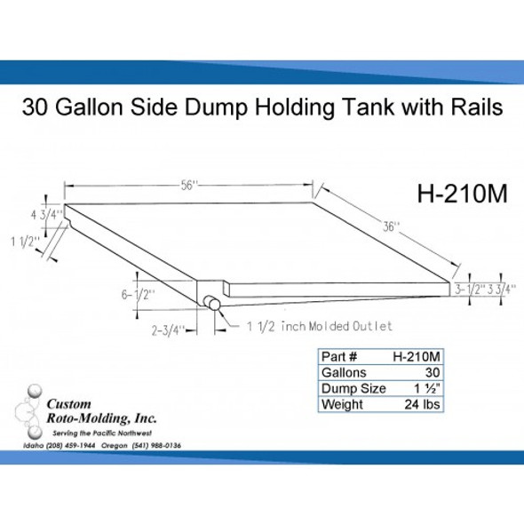 30 Gallon Side Dump RV Holding Tank | H-210M