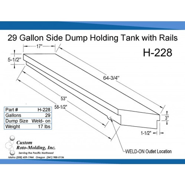 29 Gallon Side Dump RV Holding Tank | H-228