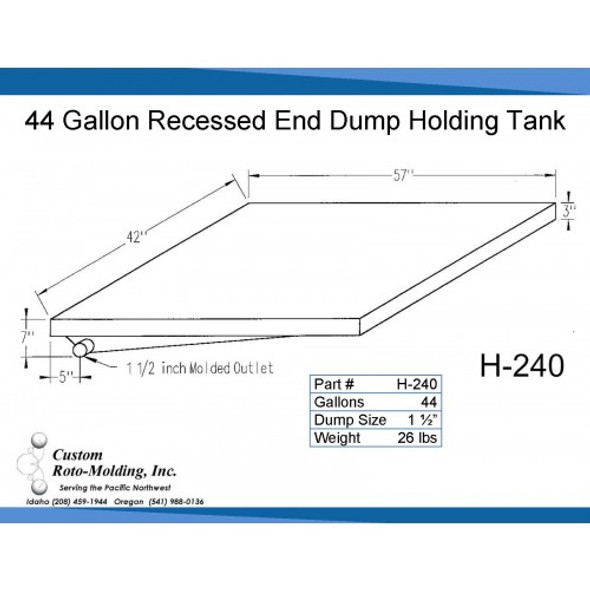 44 Gallon Side Dump RV Holding Tank | H-240
