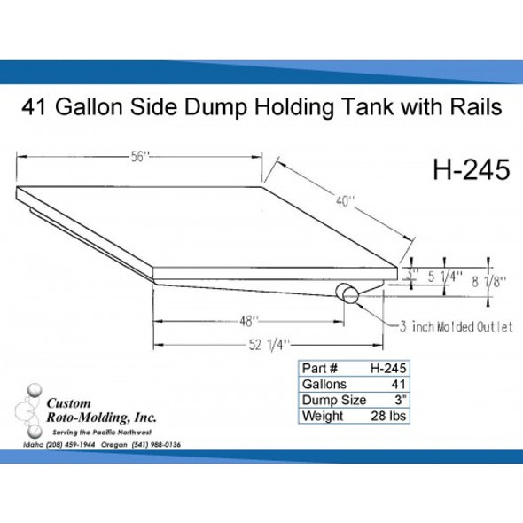41 Gallon Side Dump RV Holding Tank | H-245