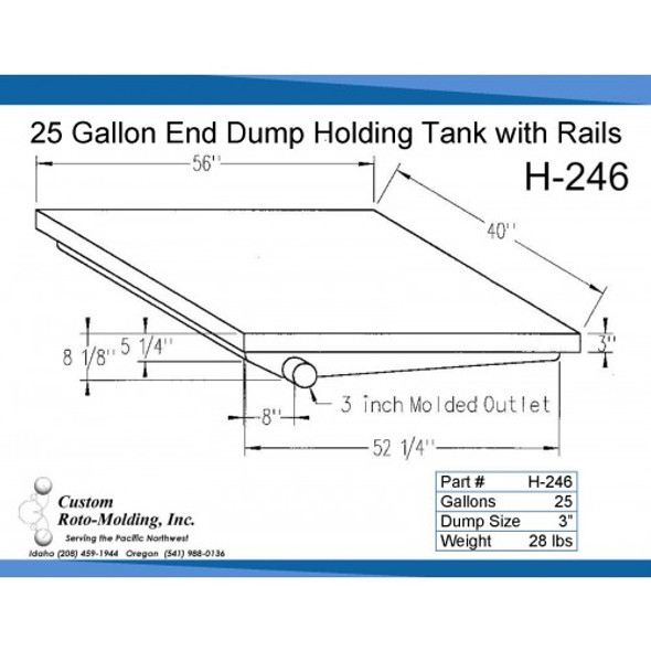 25 Gallon Side Dump RV Holding Tank | H-246