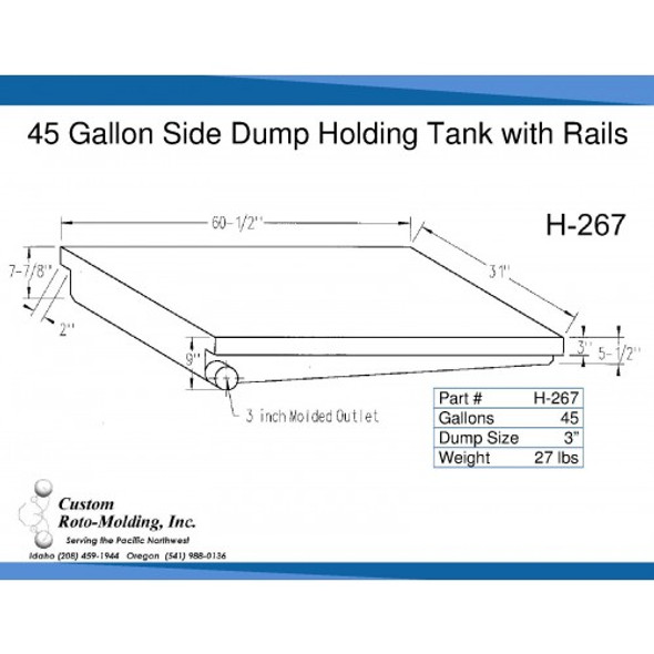 45 Gallon Side Dump RV Holding Tank | H-267