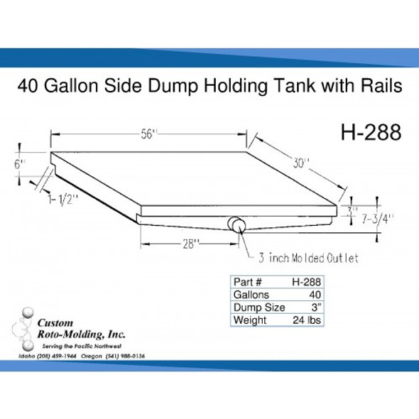 40 Gallon Side Dump RV Holding Tank | H-288
