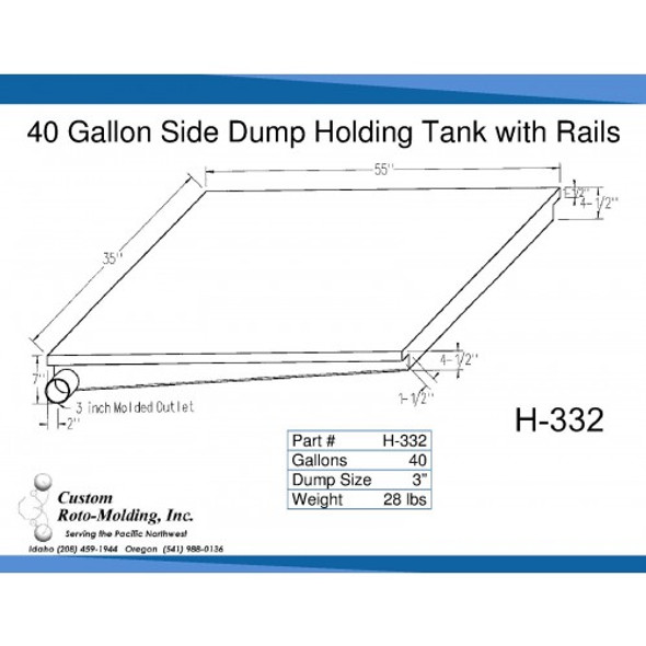 40 Gallon Side Dump RV Holding Tank | H-332