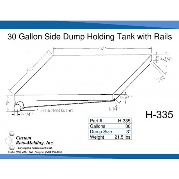 30 Gallon Side Dump RV Holding Tank | H-335