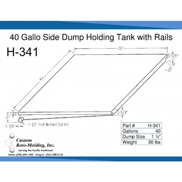 40 Gallon Side Dump RV Holding Tank | H-341
