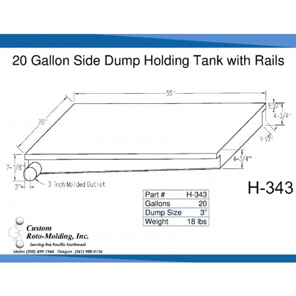 20 Gallon Side Dump RV Holding Tank | H-343