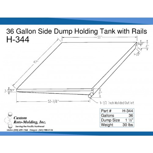 36 Gallon Side Dump RV Holding Tank | H-344